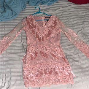 Beautiful blush pink tassel dress